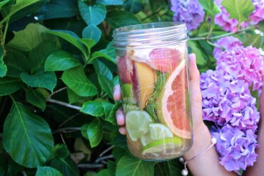 eau detox agrumes