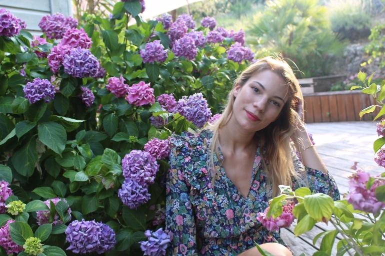 robe fleurie estivale