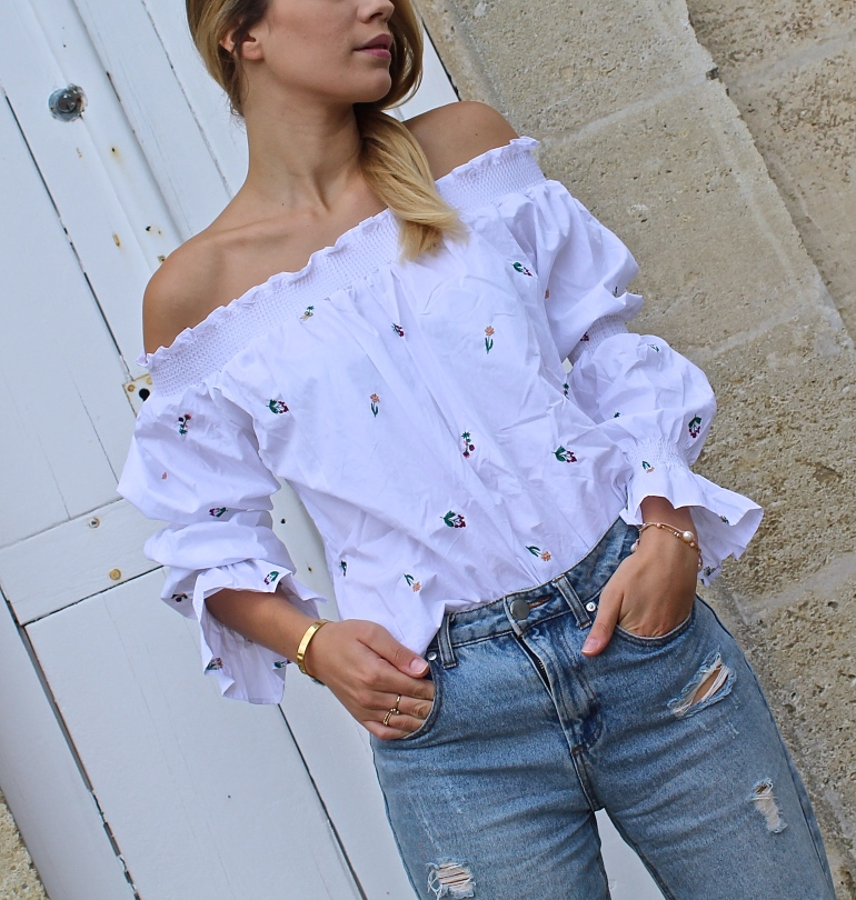 blouse blanche zaful
