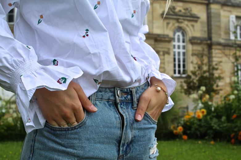 blouse blanche manche ballo