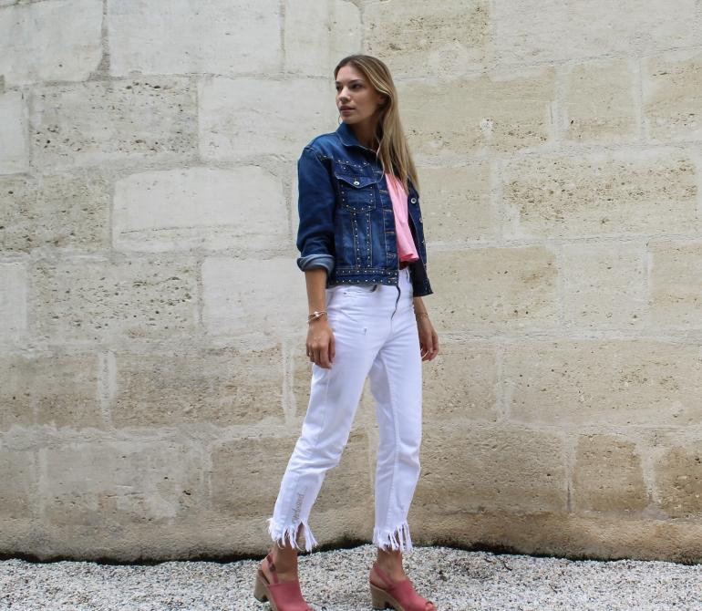 frange jean blanc