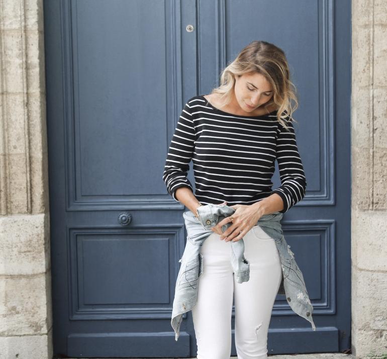 jean blanc et marinière 2