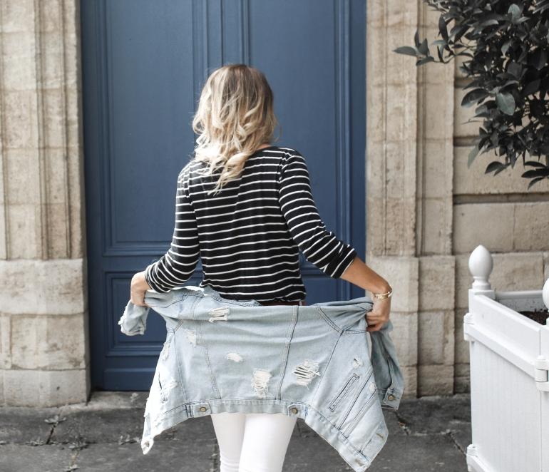 jean blanc et marinière