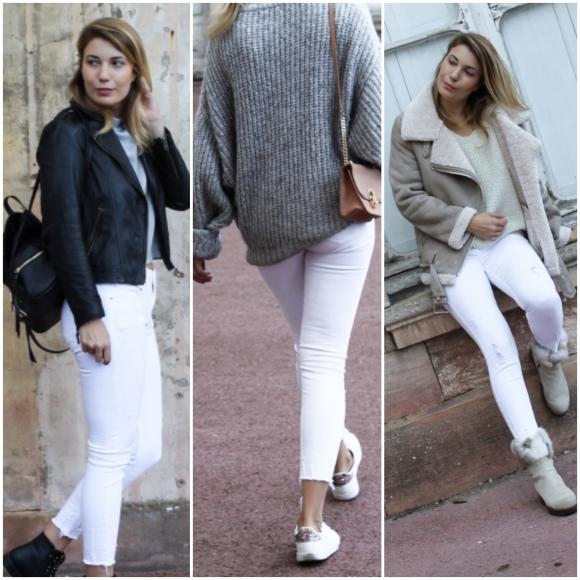 3 façons de porter votre jean blanc cethiver
